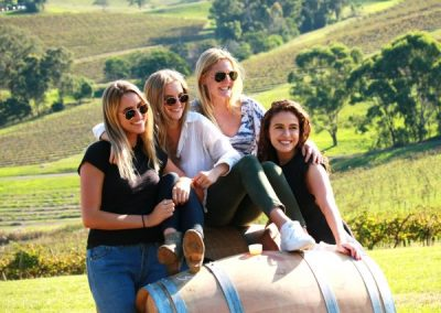 Girls having fun on the best Yarra Valley Wine Tour